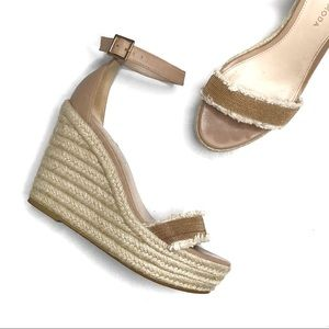Pelle Moda Radley Espadrille Wedge Sandals in Sand